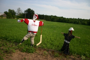 Scarecrows at Echo Bend Farm